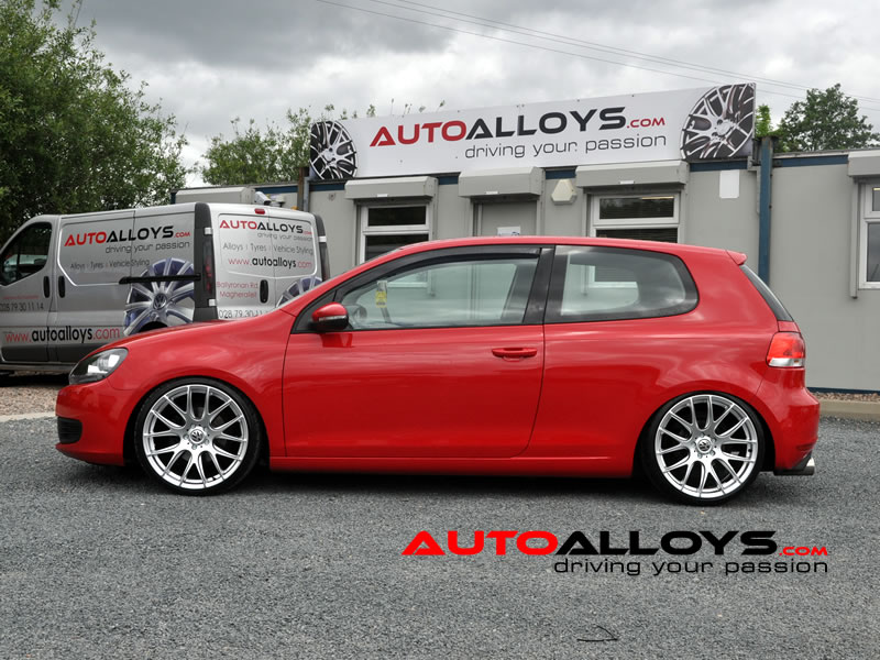 Volkswagen Golf 08 - 13 (MK6) 19 inch Zito 935 Silver Alloy Wheels