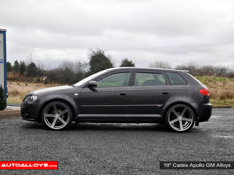 Audi A3 96 - 03 (MK1) (8L) 19 inch Cades Apollo Black Alloy Wheels