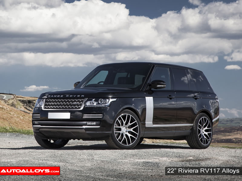 Landrover Range Rover 12 On 22 inch Riviera RV117 Alloy Wheels
