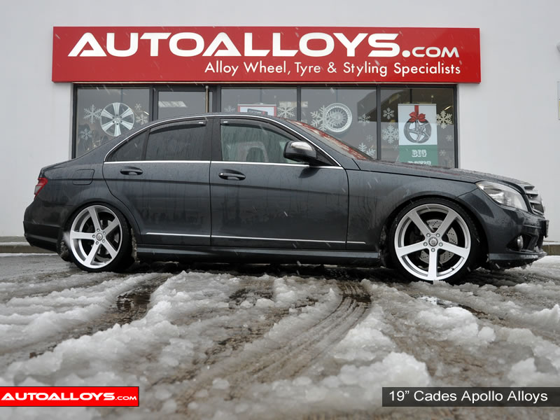 Mercedes C Class 07 On (W204) 19 inch Cades Apollo Silver Alloy Wheels