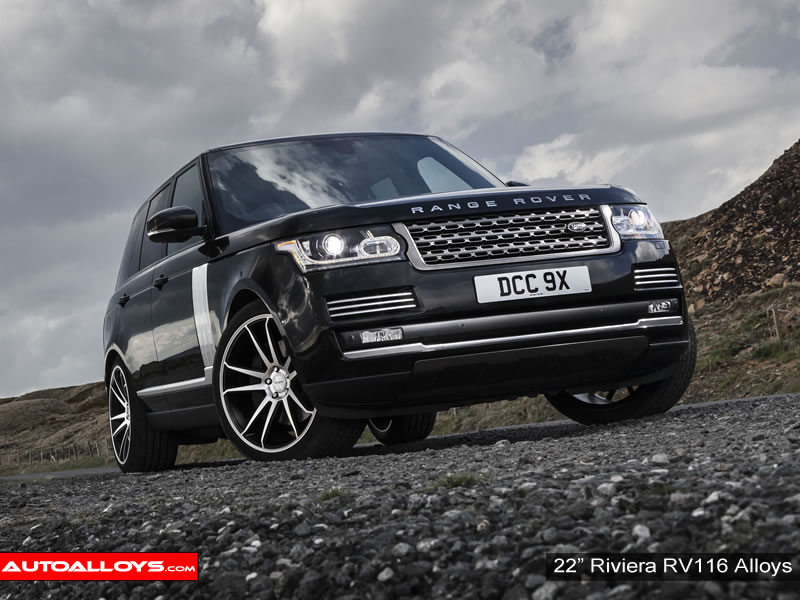 Landrover Range Rover 12 On 22 inch Riviera RV116 MBMF Alloy Wheels