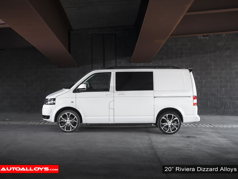 Volkswagen T5 10 On 20 inch Riviera Dizzard Alloy Wheels