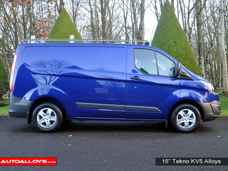Ford Transit 12 On (Custom) 15 inch Tekno KV5 Silver Alloy Wheels