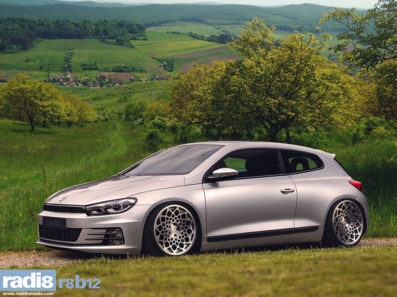 Volkswagen Scirocco 08 On 19 inch Radi8 R8-B12 SPF Alloy Wheels