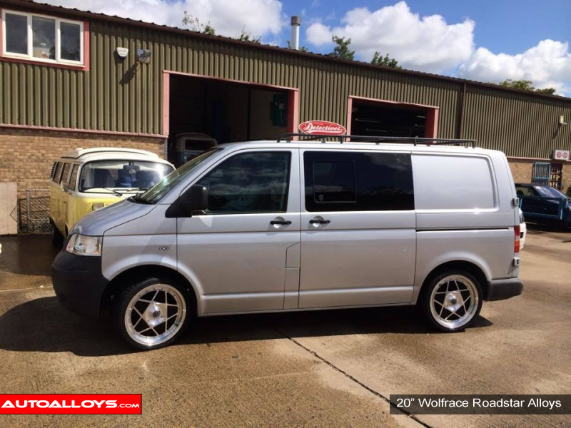 Volkswagen T5 10 On 20 inch Wolfrace Roadstar BPF Alloy Wheels