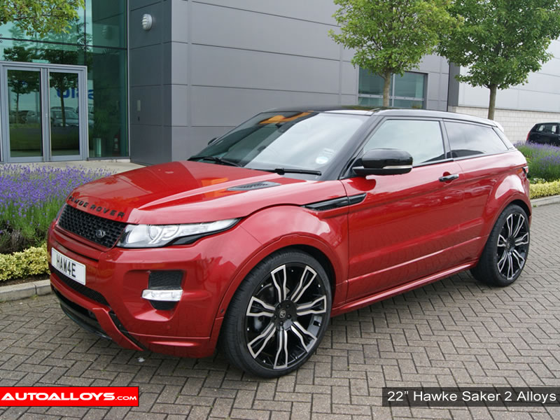 Landrover Evoque 11 On 22 inch Hawke Saker 2 BPF Alloy Wheels