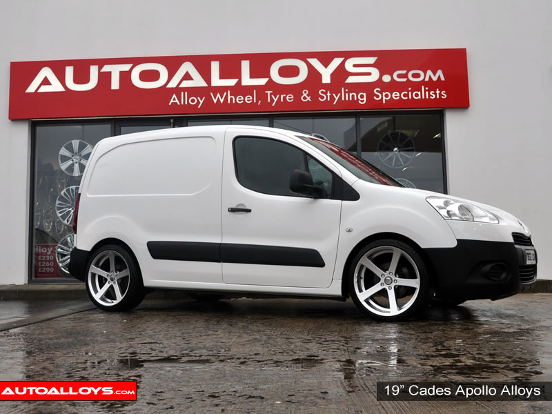 Citroen Berlingo 08 On 19 inch Cades Apollo Silver Alloy Wheels