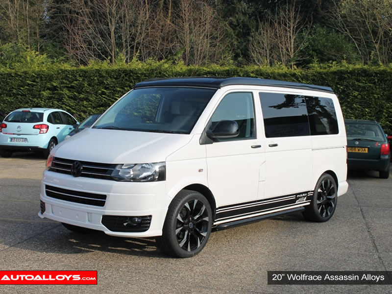Volkswagen T5 10 On 20 inch Wolfrace Assassin BPF Alloy Wheels