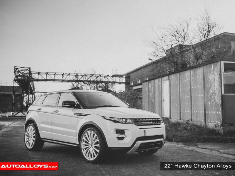 Landrover Evoque 11 On 22 inch Hawke Chayton Silver Alloy Wheels