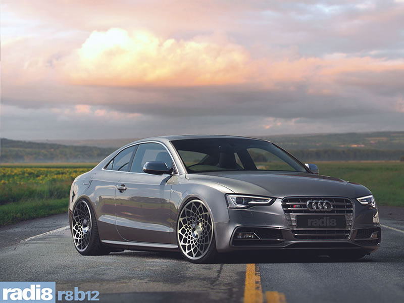 Audi S5 07 On (Coupe) 19 inch Radi8 R8-B12 BPF Alloy Wheels