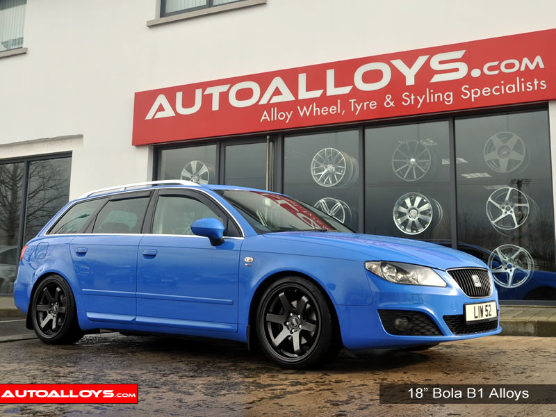 Seat Exeo 09 On (3R) 18 inch Bola B1 Gunmetal Alloy Wheels