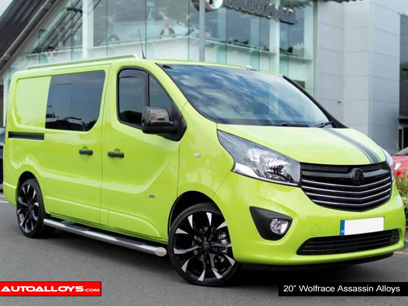 Vauxhall Vivaro 14 On 20 inch Wolfrace Assassin BPF Alloy Wheels