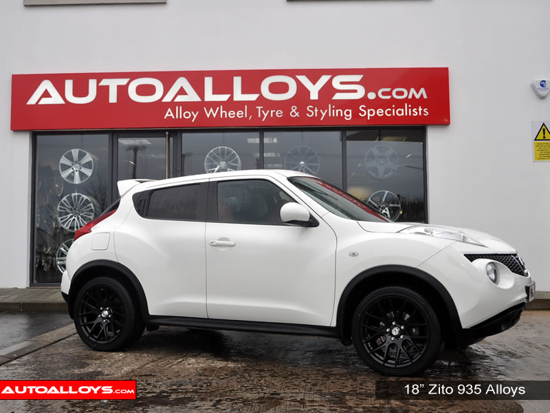 Nissan Juke 10 On 18 inch Zito 935 Black Alloy Wheels