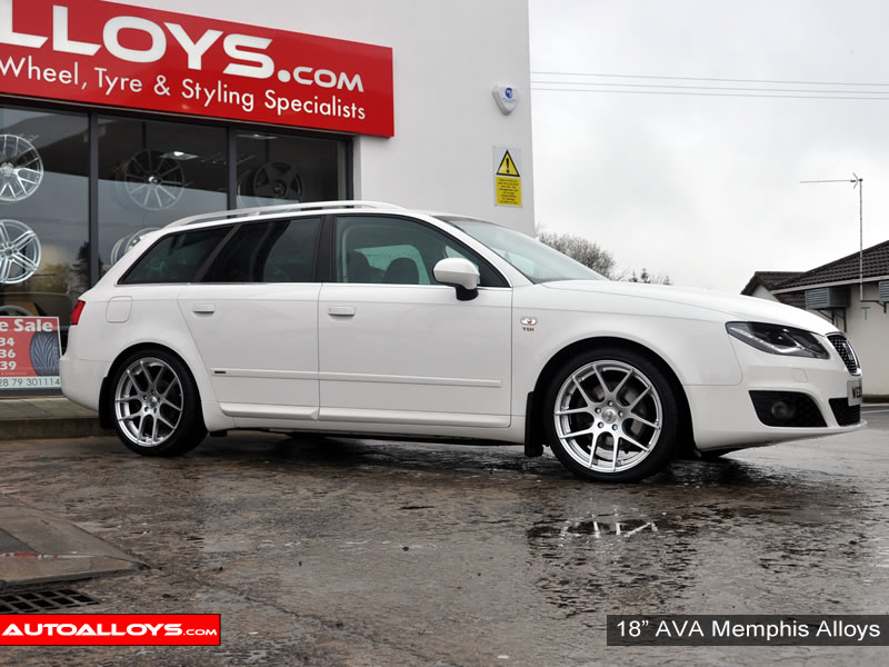 Seat Exeo 09 On (3R) 18 inch AVA Memphis Alloy Wheels