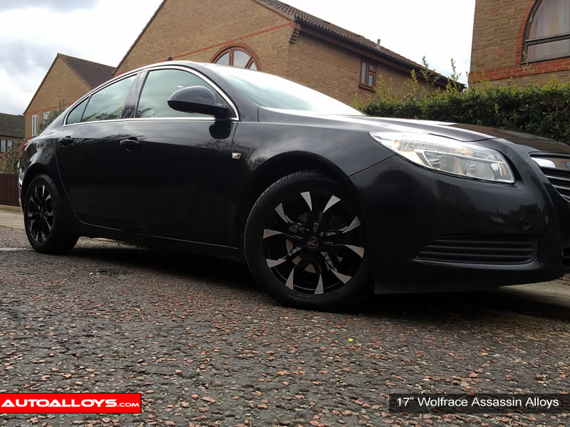 Vauxhall Insignia 09 On 17 inch Wolfrace Assassin BPF Alloy Wheels