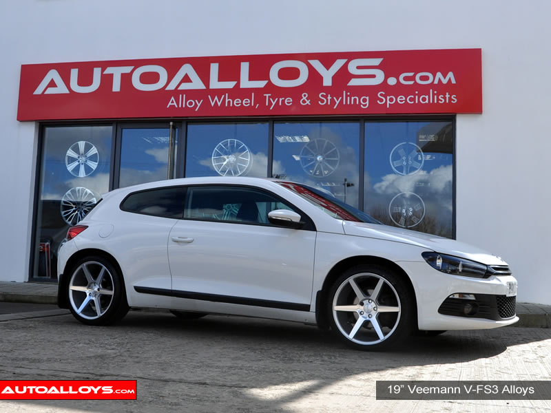 Volkswagen Scirocco 08 On 19 inch Veemann V-FS3 SMF Alloy Wheels