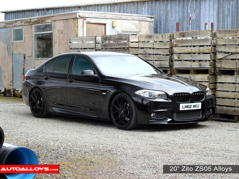 BMW 5 Series 10 On (F10) 20 inch Zito ZS05 Black Alloy Wheels