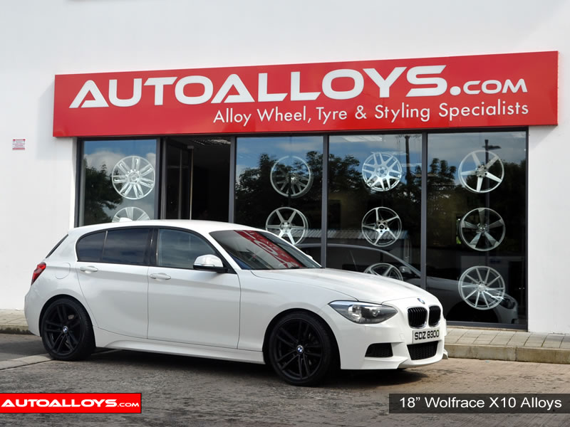 BMW 1 Series 07 - 12 (E181) 18 inch Wolfrace X10 Black Alloy Wheels