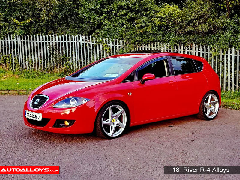 Seat Leon 05 - 12 (1P) 18 inch River R-4 MSMF Alloy Wheels