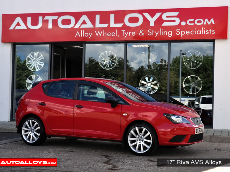 Seat Ibiza 08 On (6J) 17 inch Riva AVS Silver Alloy Wheels