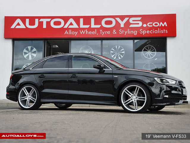 Audi A3 12 On (MK3) (8V) 19 inch Veemann V-FS33 Silver Machined