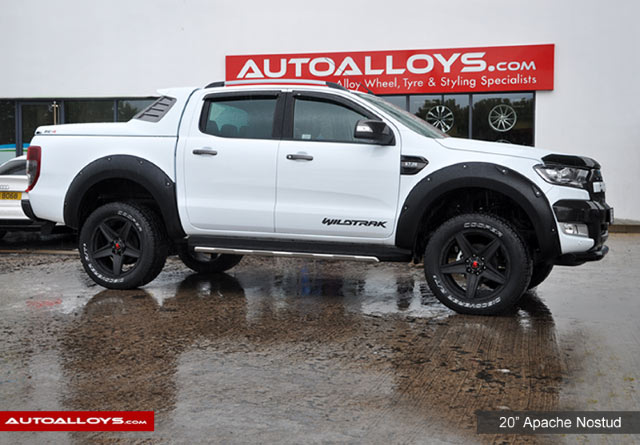 Ford Ranger 16 on  20 inch Apache Nostud Alloy Wheels