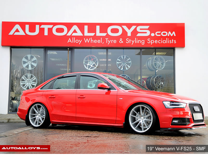 Audi A4                                                    19 inch Veemann V-FS25 Silver Machined on Audi A4