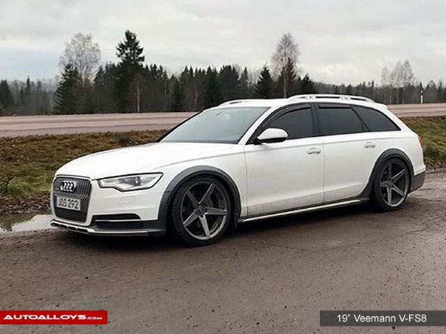 Audi A7 10 On (4G) 19 inch Veemann V-FS8 Gloss Graphite