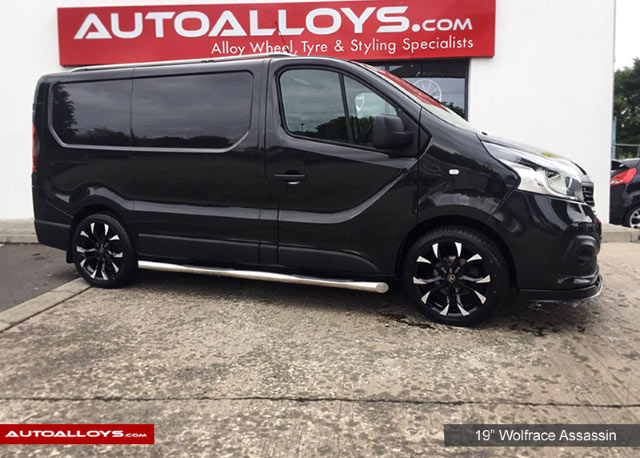 Renault Trafic 15 On  19 inch Wolfrace Assassin Gloss Black Polished