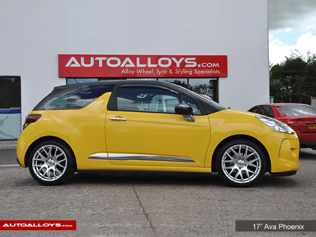 Citroen DS3 10 On 17 inch AVA Phoenix Hyper Silver