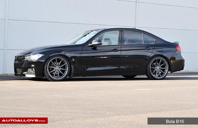 BMW 3 Series  12 On (F31) 19 inch Bola B16 Gloss Gunmetal Alloy Wheels