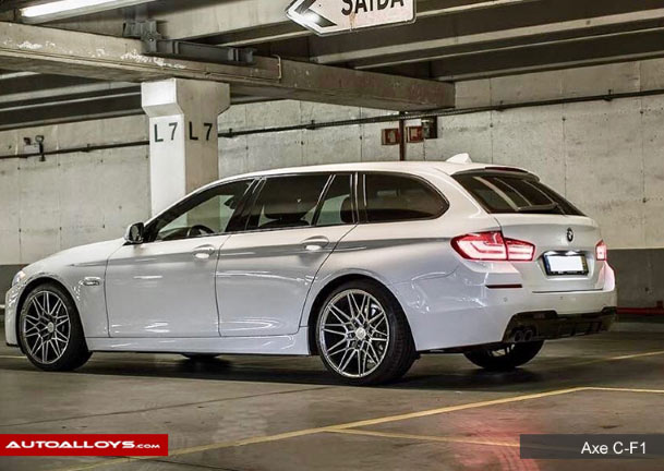 BMW 5 Series 2008 on  BMW 5 Series with 20 inch Axe CF1 Carbon Alloy Wheels