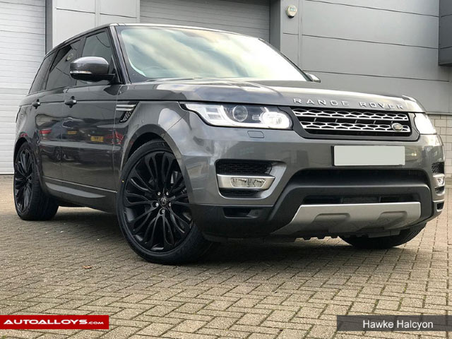 Land Rover Range Rover Sport  13 On 22 inch Hawke Halcyon Matt Black Alloy Wheels