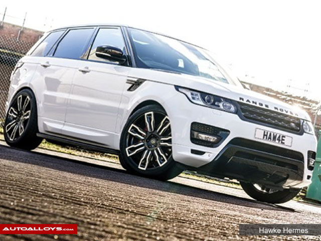 Land Rover Range Rover Sport  13 On 22 inch Hawke Hermes Black Polish Alloy Wheels