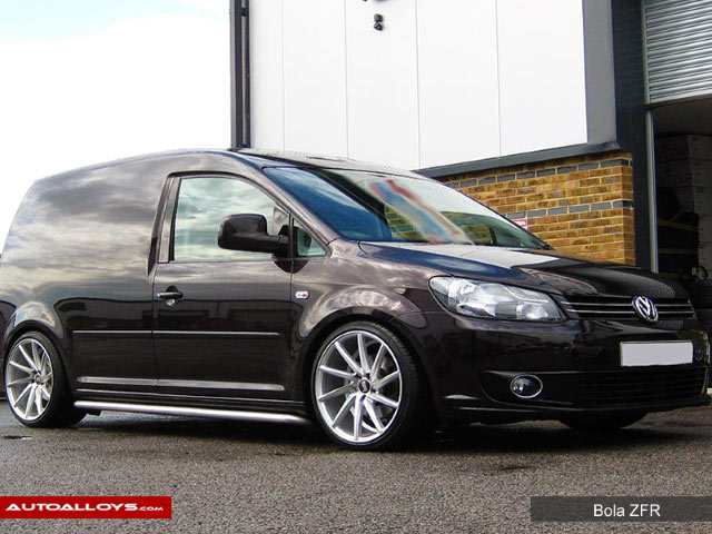 Volkswagen Caddy  04 -15 (MK3) 19 inch Bola ZFR Silver Polished Face Alloy Wheels