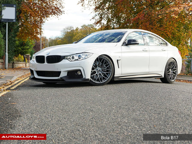 BMW 4 Series  13 On (F32) 19 inch Bola B17 Matt Gun Metal Alloy Wheels