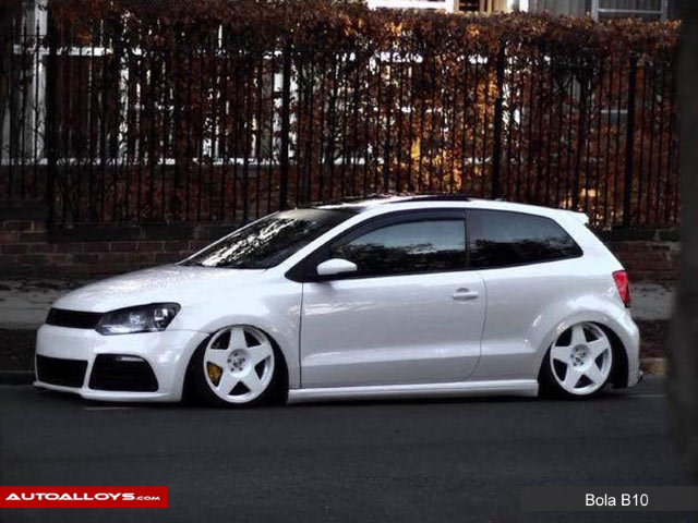 Volkswagen Polo 09 - 14 (6R) 17 inch Bola B10 White Alloy Wheels