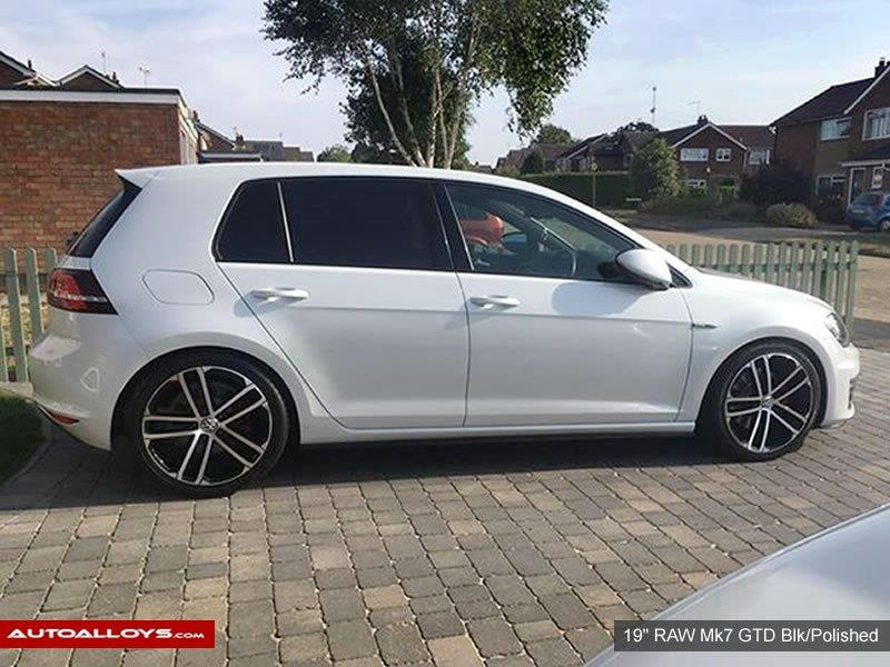 Volkswagen Golf                                                    19 inch Raw MK7 GTD Alloy Wheels