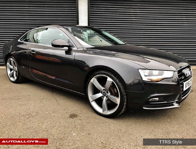 Audi A5 09 On 19 inch RAW TTRS Style Alloy Wheels - Satin Gunmetal