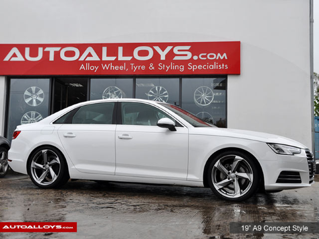 Audi A4 15 On (B9) 19 inch RAW A9 Style Alloy Wheels