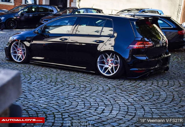 Volkswagen Golf                                                     19 inch Veemann V-FS 27R Silver Machined