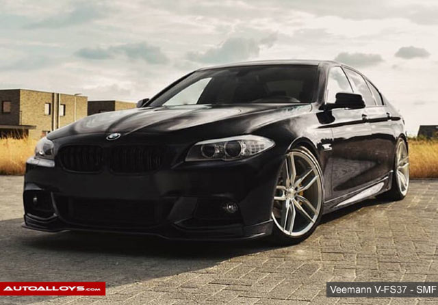 BMW 5 Series                                                     20 inch Veemann V-FS37 Silver Machined