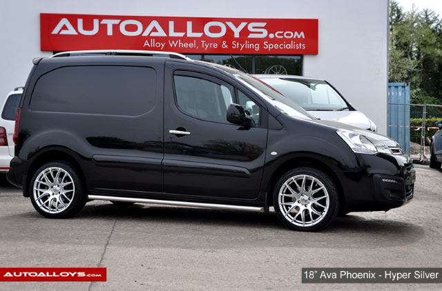 Citroen Berlingo 08 On 18 inch AVA Phoenix Hyper Silver Alloy Wheels