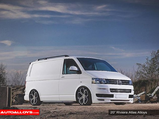 Ford Transit Custom  12 On (Custom) 20 inch Riviera RTS Black Polished Face