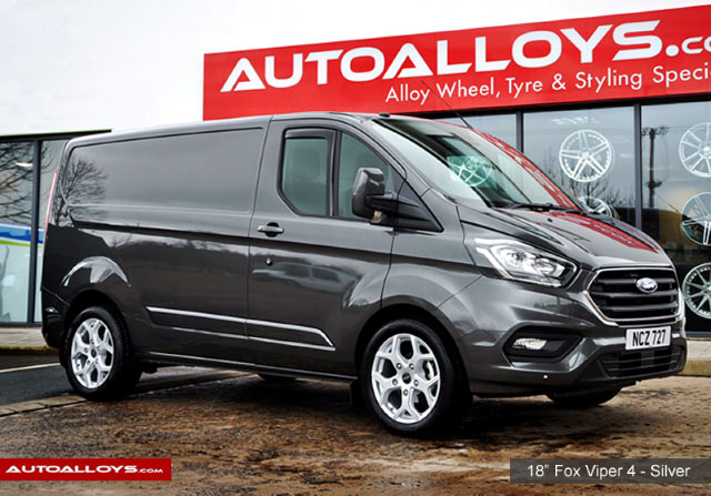 Ford Transit Custom  12 On (Custom) 18 inch Fox Viper 4 Silver