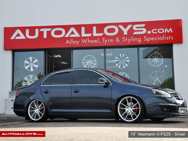 Volkswagen Jetta 06 - 11  19 inch Veemann V-FS25 Silver Machined Alloy Wheels