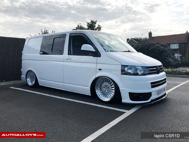 Volkswagen T6 15 On 18 inch Ispiri Wheels CSR1D Pure Silver Alloy Wheels