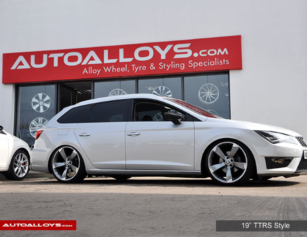 Seat Leon 13 On (5F) 19 inch RAW TTRS Style Alloy Wheels - Satin Gunmetal