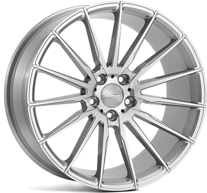"19"" Veemann V-FS19 Silver Machined Alloy Wheels"