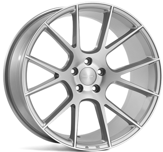 18 inch VEEMAN Alloys, Silver Machined V-FS23, Auto Alloys, UK & Ireland